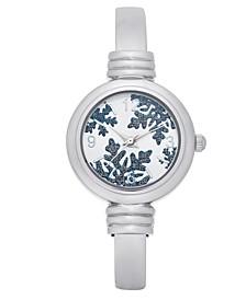 Women's Silver-Tone Cuff Bracelet Watch 28mm, Created For Macy's