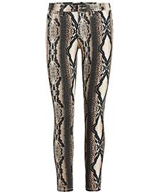 Snakeskin Printed Skinny Jeans