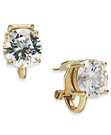 Danori Cubic Zirconia Clip-On Stud Earrings, Created For Macy's