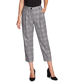 Vince Camuto Glen Plaid Cropped Pants