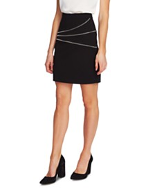 Vince Camuto Zipper-Trimmed Mini Skirt