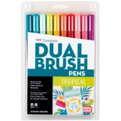 Tombow Dual Brush Pen Art Markers, Tropical, 10-Pack