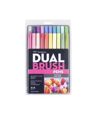 Tombow Dual Brush Pen Art Markers, Floral Palette, 20-Pack
