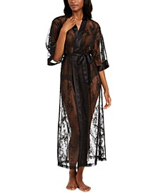 INC Long Lace Wrap Robe, Created for Macy's