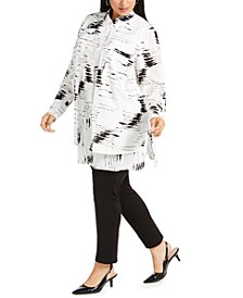 Plus Size Layered-Look Printed Blouse, Created for Macy's