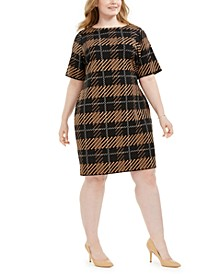 Plus Size Printed Sheath Dress, Created for Macy's