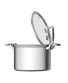 CookCraft by Candace 8 Quart Stock Pot with Glass Latch Lid