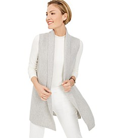 Sleeveless Open-Front Cashmere Sweater, Created For Macy's