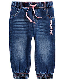First Impressions Baby Girls Girl Power Jeans, Created for Macy's