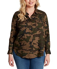 Petunia Plus Size Animal-Print Top