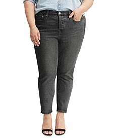 Trendy Plus Size  High-Waist Wedgie Jeans