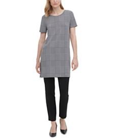 Calvin Klein Houndstooth-Print Tunic