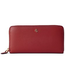 Lauren Ralph Lauren Leather Continental Zip Wallet