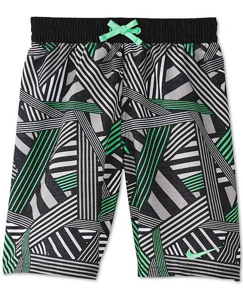Nike Big Boys Printed Volley Shorts Swim Trunks