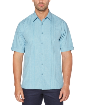 Men's Big & Tall Pintuck Embroidered Chambray Shirt