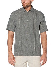 Men's Big & Tall Pintuck Embroidered Chambray Shirt