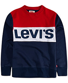 Levi's® Big Boys Carlton Colorblocked French Terry Logo Sweatshirt
