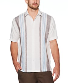 Cubavera Men's Big & Tall Yarn-Dyed Stripe Linen Shirt