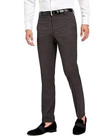 INC Men's Slim-Fit Crosshatch Suit Pants, Created for Macy's