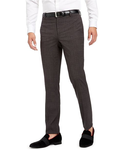 INC International Concepts INC Men's Slim-Fit Crosshatch Suit Pants, Created for Macy's