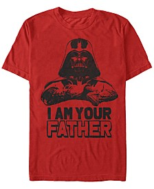 Star Wars Men's Classic Darth Vader I Am Your Father Short Sleeve T-Shirt