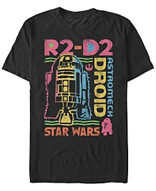 Star Wars Men's Classic Rainbow Retro R2-D2 Astromech Droid Short Sleeve T-Shirt