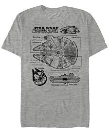 Star Wars Men's Classic Millennium Falcon Build Short Sleeve T-Shirt