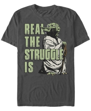 Men's Star Wars Yoda Real The Struggle Is Short Sleeve T-shirt