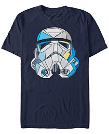 Men's Classic Stained-Glass Stormtrooper Helmet Short Sleeve T-Shirt