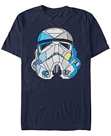 Star Wars Men's Classic Stained-Glass Stormtrooper Helmet Short Sleeve T-Shirt