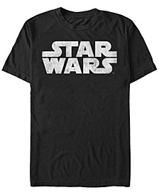 Men's Simple Title Logo Short Sleeve T-Shirt