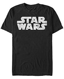 Star Wars Men's Simple Title Logo Short Sleeve T-Shirt