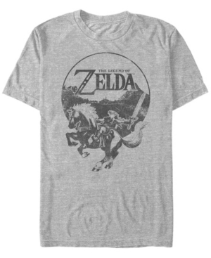 Nintendo Men's Legend of Zelda Rider Logo Short Sleeve T-Shirt