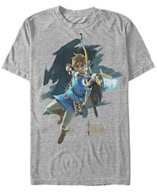 Men's Legend of Zelda Breath of The Wind Links Jump Shot Short Sleeve T-Shirt