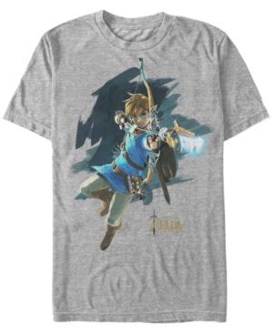 Nintendo Men's Legend of Zelda Breath of The Wind Links Jump Shot Short Sleeve T-Shirt