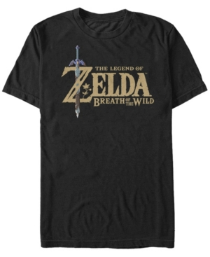 Nintendo Men's Legend of Zelda Breath of The Wind Logo Short Sleeve T-Shirt