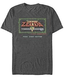 Men's Legend of Zelda Push Start Button Short Sleeve T-Shirt