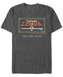 617bac9b8130 Nintendo Men's Legend of Zelda Push Start Button Short Sleeve T-Shirt