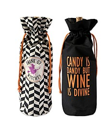 Assorted All Hallows Eve Wine Bags Set of 2