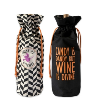 Design Imports Assorted All Hallows Eve Wine Bags Set of 2