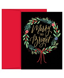 Masterpiece Studios Merry & Bright Wreath Holiday Boxed Cards