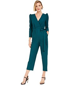 Puff-Shoulder Jumpsuit