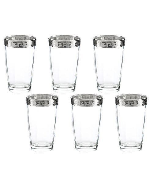 Three Star Hi-Ball Italian Glasses 6 Piece