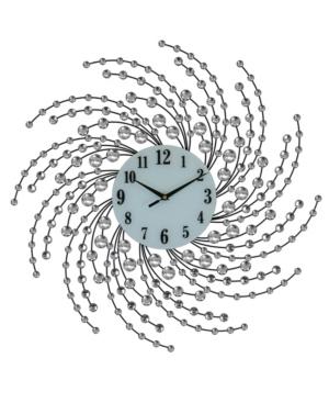Three Star Spirals Round Wall Clock