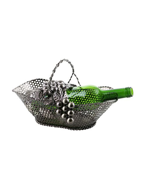 Wine Bodies Basket with Handle Bottle Holder