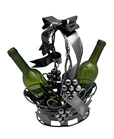 Basket Holding 2 Bottles Wine Holder