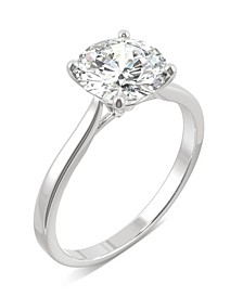 Moissanite Round Solitaire Ring (1-9/10 ct. tw.) in 14k White Gold