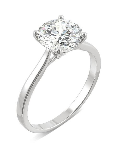 Charles & Colvard Moissanite Round Solitaire Ring (1-9/10 ct. tw.) in 14k White Gold