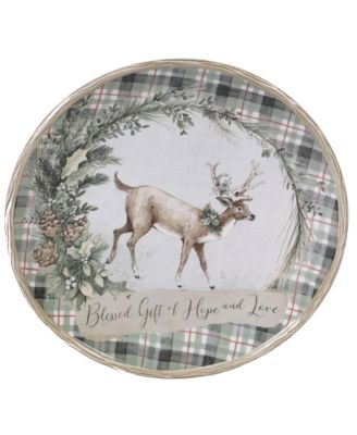 Holly and Ivy Round Platter