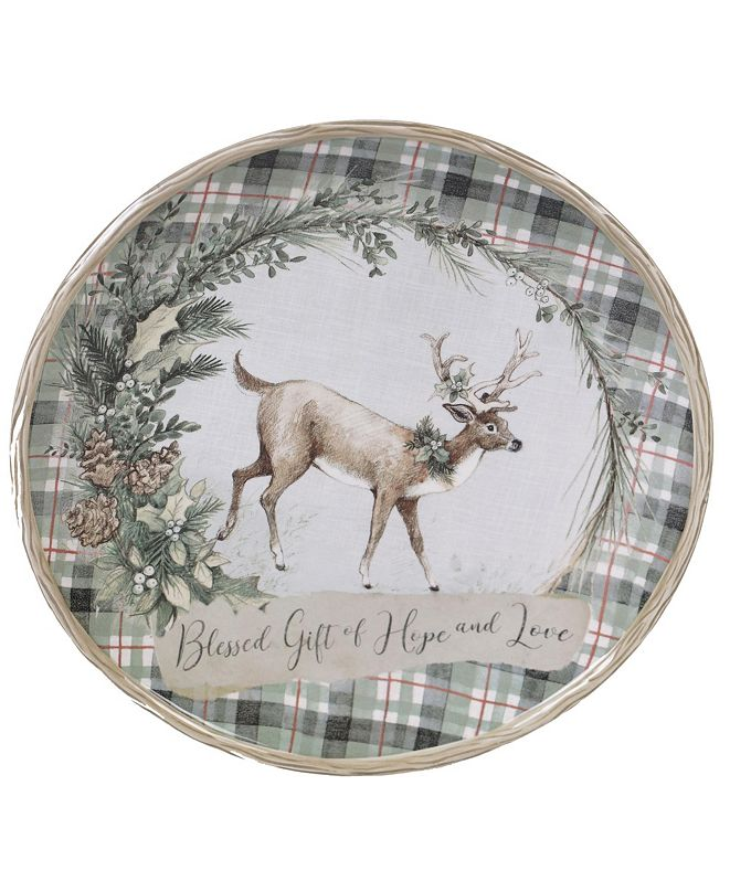 Certified International Holly and Ivy Round Platter